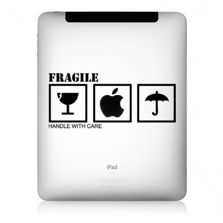 iPad Aufkleber Fragile