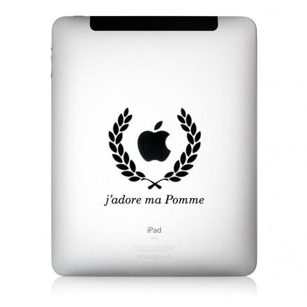 iPad Aufkleber J`adore