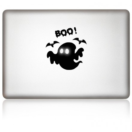 MacBook Aufkleber iBoo Halloween