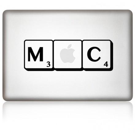 macbook aufkleber scrabb