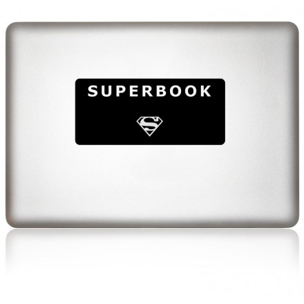 MacBook Aufkleber: SUPERBOOK