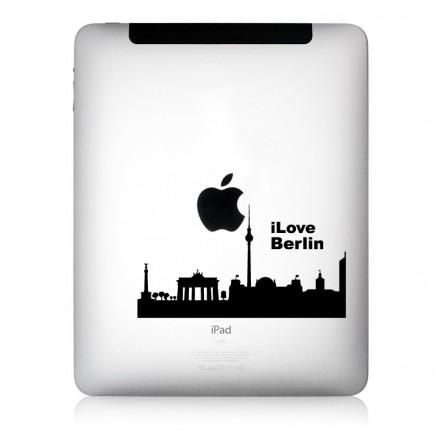 iPad Aufkleber: iLove Berlin