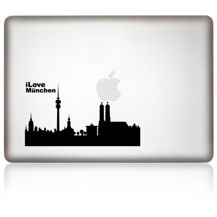 MacBook Aufkleber: I Love Muenchen