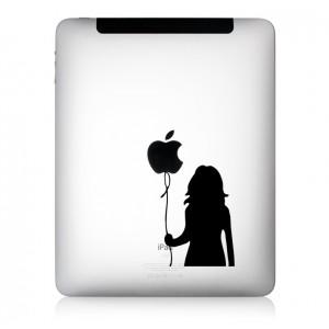 iPad Aufkleber Mädchen mit Ballon