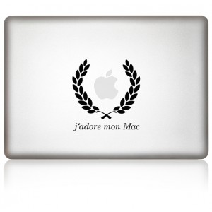 MacBook Aufkleber J`adore