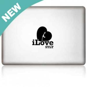 MacBook Aufkleber: iLove Sylt
