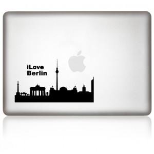 MacBook Aufkleber: I Love Berlin