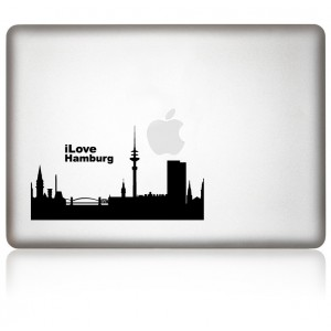 MacBook Aufkleber: I Love Hamburg